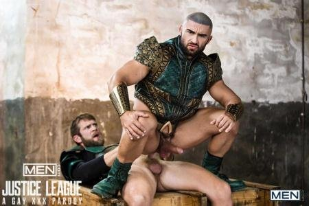 Colby Keller, Francois Sagat - Justice League : A Gay XXX Parody Part 2 (13 December 2017) [HD 720p]