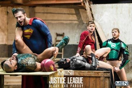 Brandon Cody, Colby Keller, Francois Sagat, Johnny Rapid, Ryan Bones - Justice League - A Gay XXX Parody Part 4 (18 December 2017) [HD 720p]