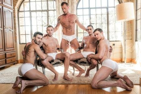 Andy Star, Bogdan Gromov, Javi Velaro, Logan Rogue, Ruslan Angelo - LVP274-04 Ruslan Angelo's Five-Man Bareback Orgy (18 December 2017) [HD 720p]
