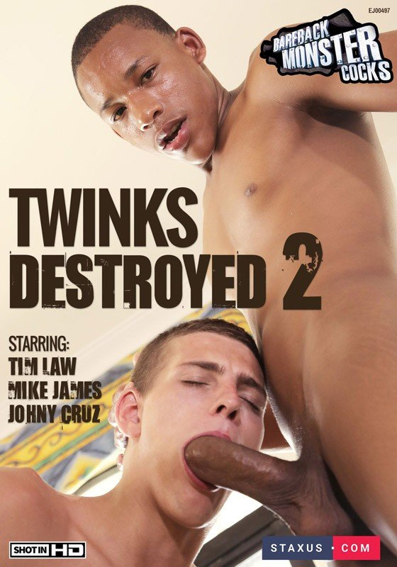 Staxus, Bareback Monster Cocks - Twinks Destroyed 2 [DVDRip]