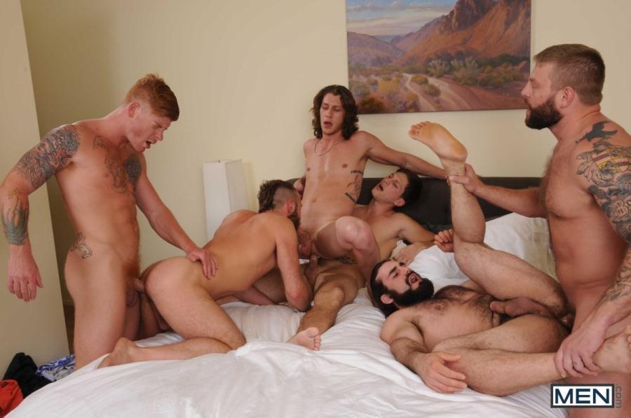 Gay Porn Bennett Anthony, Colby Jansen, Gus Turner, Jaxton