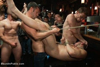 Tristan Jaxx , Adam Herst and Bryan Cole - Naked ripped stud gets humiliated and used in a crowded public bar (15 February 2018) [HD 720p]