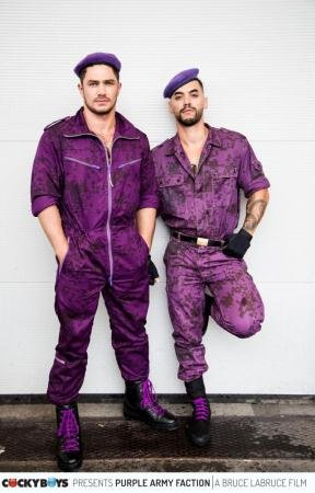 Arad WinWin, Dato Foland, Francois Sagat, Levi Karter - Bruce LaBruce's Purple Army Faction (26 March 2018) [HD 720p]
