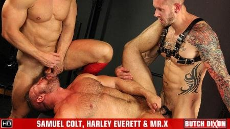 Samuel Colt, Harley Everett, Mr X - Threesome (21 May 2018) [HD 720p]