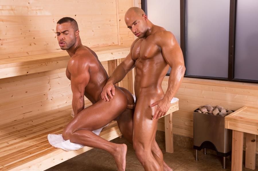 Anal gay pleasure at the bath house