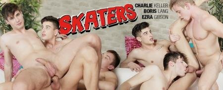 Boris Lang, Charlie Keller, Ezra Gibson - Raw Skaters, Sc.3: Threeway Pile-Up Climaxes In A Jizz-Inducing Double-Stuffing! (6 July 2019) [HD 720p]