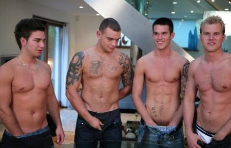 Andy Lee, Jay Hall, Hayden Harris, Leon Oliver - Four Straight Hunks Wank Contest (1 April 2020) [HD]