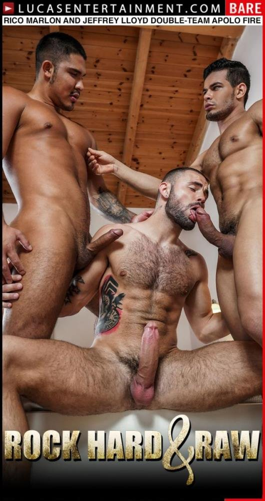Apolo Fire, Jeffrey Lloyd, Rico Marlon - LVP338-03 Rock Hard And Raw, Scene 3: Rico Marlon And Jeffrey Lloyd Double-Team Apolo Fire (18 May 2020) [HD]